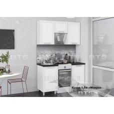 Кухонный гарнитур 1.5м «Монро» Белый – Белый глянец