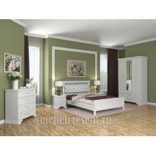 Модульный спальный гарнитур «Грация» Белый Композиция №2