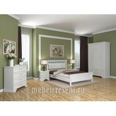 Модульный спальный гарнитур «Грация» Белый Композиция №1