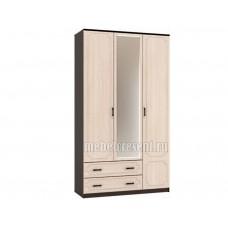 Шкаф «Венеция ШР 3» Венге – Дуб молочный