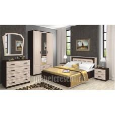 Модульный спальный гарнитур «Венеция» Венге – Дуб молочный
