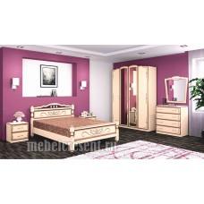 Модульный спальный гарнитур «Виктория» Макиато – Дуб молочный