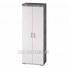 Шкаф «Инстайл ШК-29» Белый глянец – Метрополитан грей
