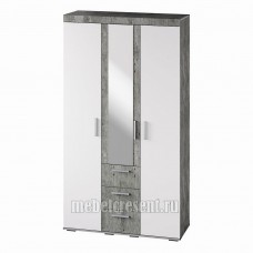 Шкаф «Инстайл ШК-30» Белый глянец – Метрополитан грей