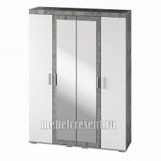 Шкаф «Инстайл ШК-31» Белый глянец – Метрополитан грей