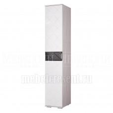 Пенал «Кимберли ПН-16» Ясень белый – Белый глянец