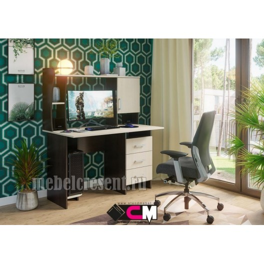 «Стол компьютерный №5» Венге - Дуб Белфорт