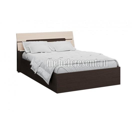 Кровать 1600 с основанием настил ДСП «Гавана» Венге - Дуб молочный
