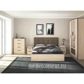 Модульный спальный гарнитур «Лирика». Композиция №3