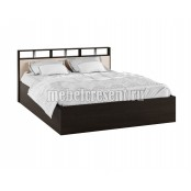 Кровать 1400 с основанием настил ДСП «Ненси 2» Венге - Дуб молочный
