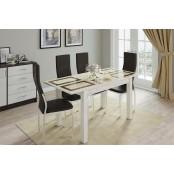 Стол обеденный раскладной 1100х700 «Бруно» Дуб Крафт Белый - Плитка
