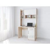 Стол компьютерный «Квартет 10» Дуб сонома - Белый