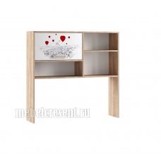Надстройка для стола «Бланка» Дуб Сонома - Белый с фотопечатью