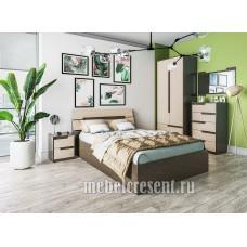 Модульный спальный гарнитур «Гавана» Венге - Дуб молочный