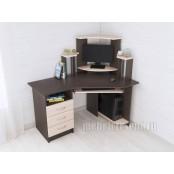 Стол компьютерный «Грета 7» Венге - Дуб молочный