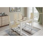 Стол обеденный 1100х700 «Норман» Дуб Крафт Белый - Плитка