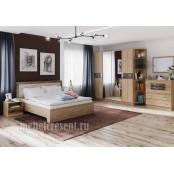Модульный спальный гарнитур «Мадлен» - Дуб Шале мореный. Композиция №2