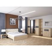 Модульный спальный гарнитур «Мадлен» - Дуб Шале Серебро. Композиция №2