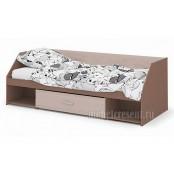 Кровать «Симба» кофе с молоком глянец