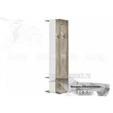 Вешалка «Наоми ВШ-02» Дуб Каньон – Белый глянец