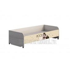 Детская кровать 0.8 «Мийа 3А» КР-016. Бежевый – фотопечать Ретро
