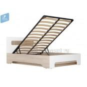 Кровать 1400 с подъёмным механизмом «Палермо 3» Белый глянец