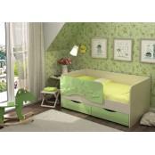 Кровать детская 1.8 «Алиса» КР-813 Дуб Белфорт - Зеленый металлик