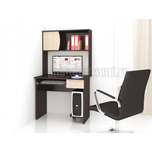 «Стол компьютерный №2» Венге - Дуб Белфорт