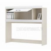 Надстройка для стола «Симба» Белый глянец