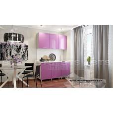 Кухонный гарнитур 1,5м «Блёстки Сирень» Серый – Блёстки Сирень