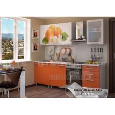 Кухонный гарнитур 1,8м «Персик» Серый – Блёстки оранж