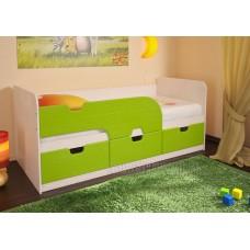 Детская кровать 0.8 «Минима» Дуб Атланта – Лайм глянец