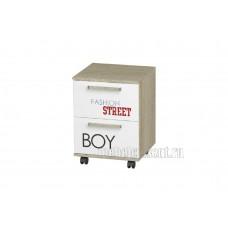 Тумба выкатная «Сенди ТБ-07» Мальчик Дуб Сонома – Белый