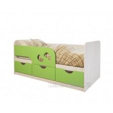 Детская кровать 0.8 «Минима Лего» Дуб Атланта – Лайм глянец