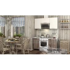Кухонный гарнитур 1,6м «Катя» Серый - Ясень Шимо / Дуб Атланта