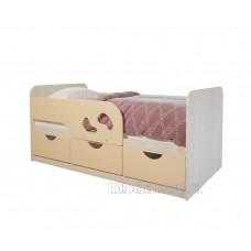 Детская кровать 0.8 «Минима Лего-2» Дуб Атланта – Крем