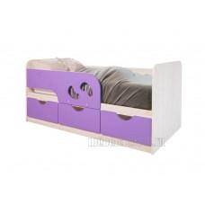 Детская кровать 0.8 «Минима Лего-2» Дуб Атланта – Лиловый сад