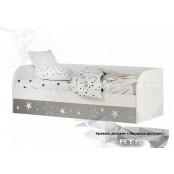 Детская кровать с подъёмным механизмом 0.8 «ТРИО КРП-01» Звездное детство Белый