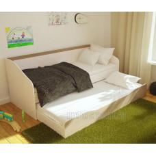 Детская кровать 0.8 «Паскаль» Дуб Атланта – Ясень Шимо