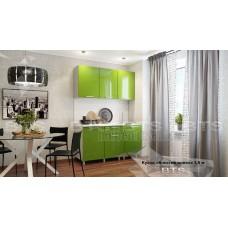 Кухонный гарнитур 1,5м «Блёстки Олива» Серый – Блёстки Олива